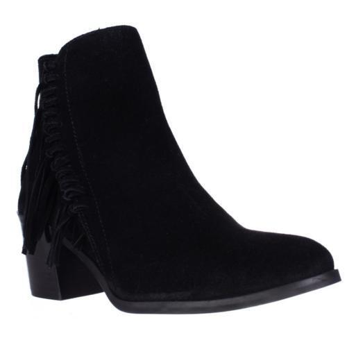 139 sz 7.5 Kenneth Cole reaction redini Bootie Black Suede leather ankle boots
