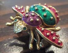 Joan Rivers Classic Collection BUG Brooch Pin With Clock