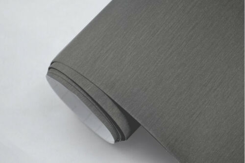 7€//m² ALU Aluminium gebürstet TITAN GRAU 300 x 152 cm Deko Folie selbstklebend