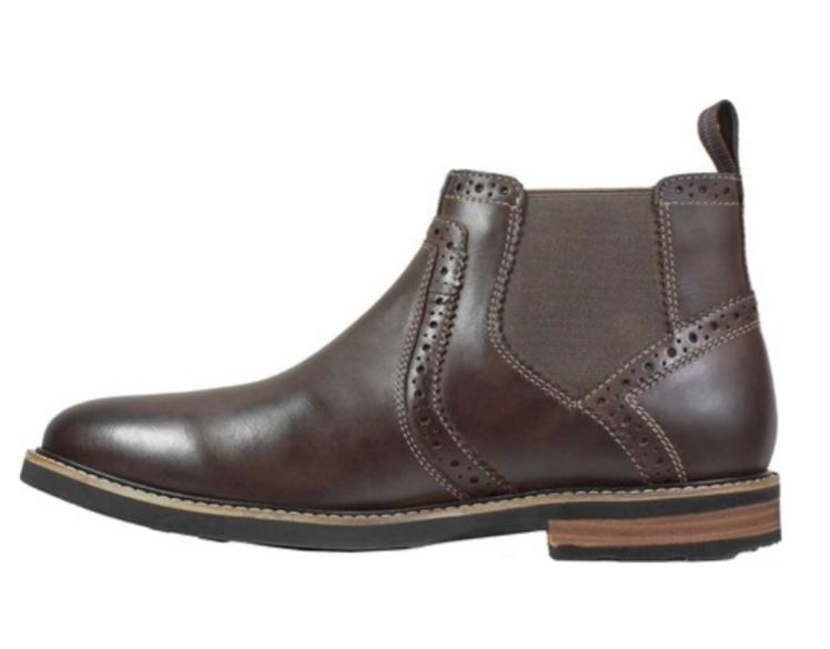9aac855a305870 ... Nunn Nunn Nunn Bush Otis Men s Brown Leather Chelsea Boots 84778-215  d9a7d2 ...