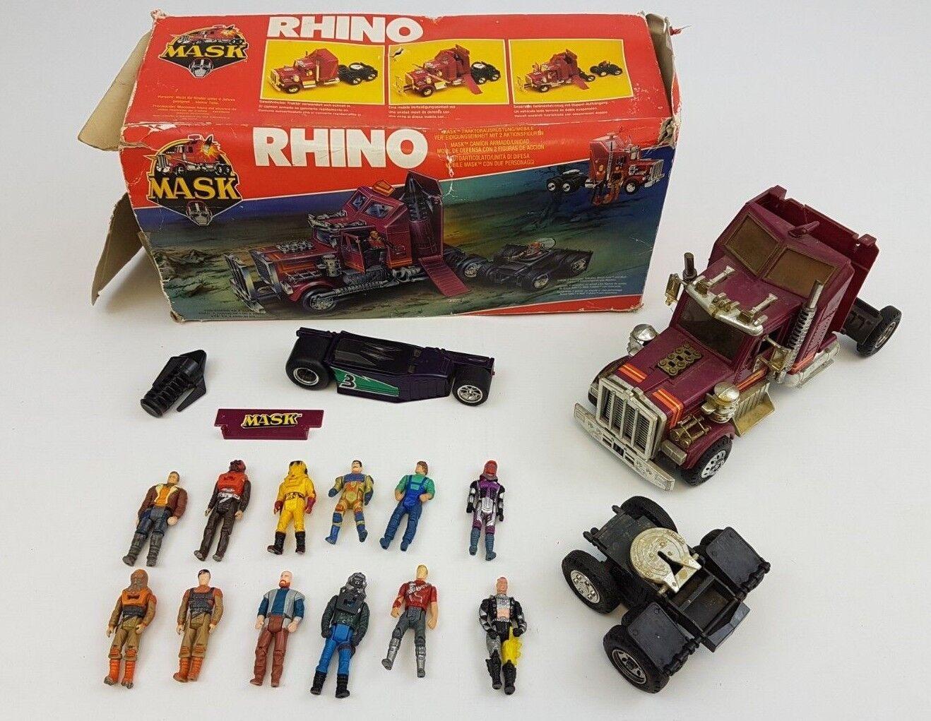 Rhino M.A.S.K MATT TRAKKER Camion Trattore Rig DIFESA unità KENNER MASK IN SCATOLA BOX