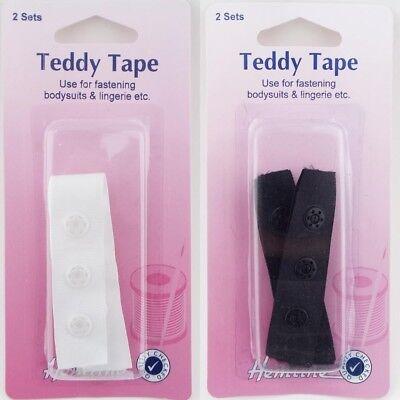 Teddy Tape For Bodysuits Leotard Gusset Snap Poppers Press Stud Lingerie BUY 1 2