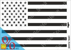 Schablone-Stencil-A3-240-0937-Amerika-Flagge-Neu-Heike-Schaefer-Design