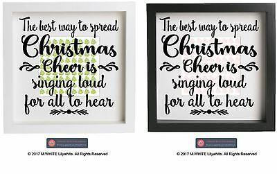 2019 Nuevo Estilo The Best Way To Spread Christmas Cheer - Vinyl Sticker For Ikea Ribba Frame Xmas