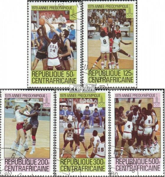 Central African republic. 653A-657A (complete issue) used 1979