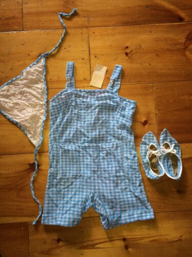 Vintage 1950s Gingham Acrylic Swimsuit Romper Play