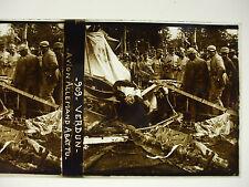 plaque photo guerre 14-18 verdun avion allemand abattu soldats poilus WWI