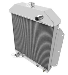 Details about 3 Row Aluminum DR Radiator For 1950 Ford Shoebox Aluminum  Radiator Ford Config