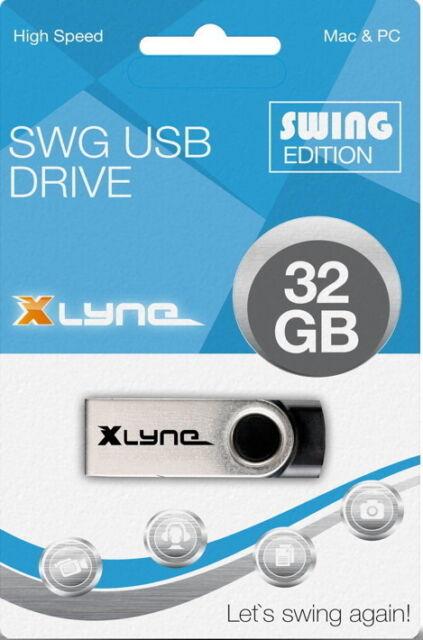 Xlyne USB Stick 32GB Speicherstick SWG schwarz mit Kappe