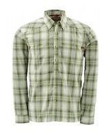 Simms Kenai Shirt Dill Plaid Closeout Size Small