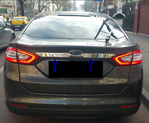 ford mondeo mk5 saloon 2015up chrome rear trunk tailgate lid cover s steel ebay. Black Bedroom Furniture Sets. Home Design Ideas