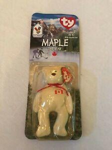 *NEW in BOX* RARE 1994 Retired Maple Bear Ty Beanie Baby