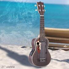 """ammoon Spruce 21"""" Acoustic Ukulele Uke 15 Fret 4 Strings Instrument NEW D0Q3"""