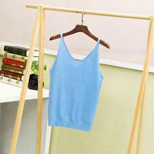e707ce2b712e7 item 2 Women Summer V Neck Knitted Vest Top Sleeveless Shirt Blouse Tank  Tops T-Shirt -Women Summer V Neck Knitted Vest Top Sleeveless Shirt Blouse  Tank ...