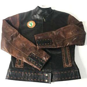 Brown EL Antilope Cuante ecuador  size XS- S vintage jacket coat WOMEN Aztec