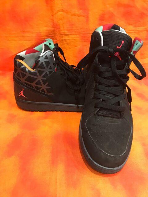 size 40 45802 186a9 Nike Air Jordan 1 Flight 3 Men's Black Geo Pattern Sneakers Sz 10 743188-045