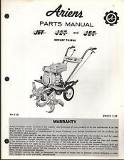 ARIENS ROTARY TILLER JET, SUPER JET, & DELUXE PARTS MANUAL P/N PM-3  (168)