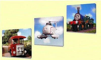 Thomas The tank engine Kids canvas wall art plaque pictures set of three pack II