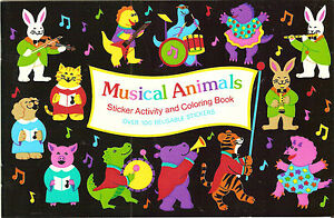 Image Is Loading Sandylion Vtg Animals Sticker Book With 4 Maxi