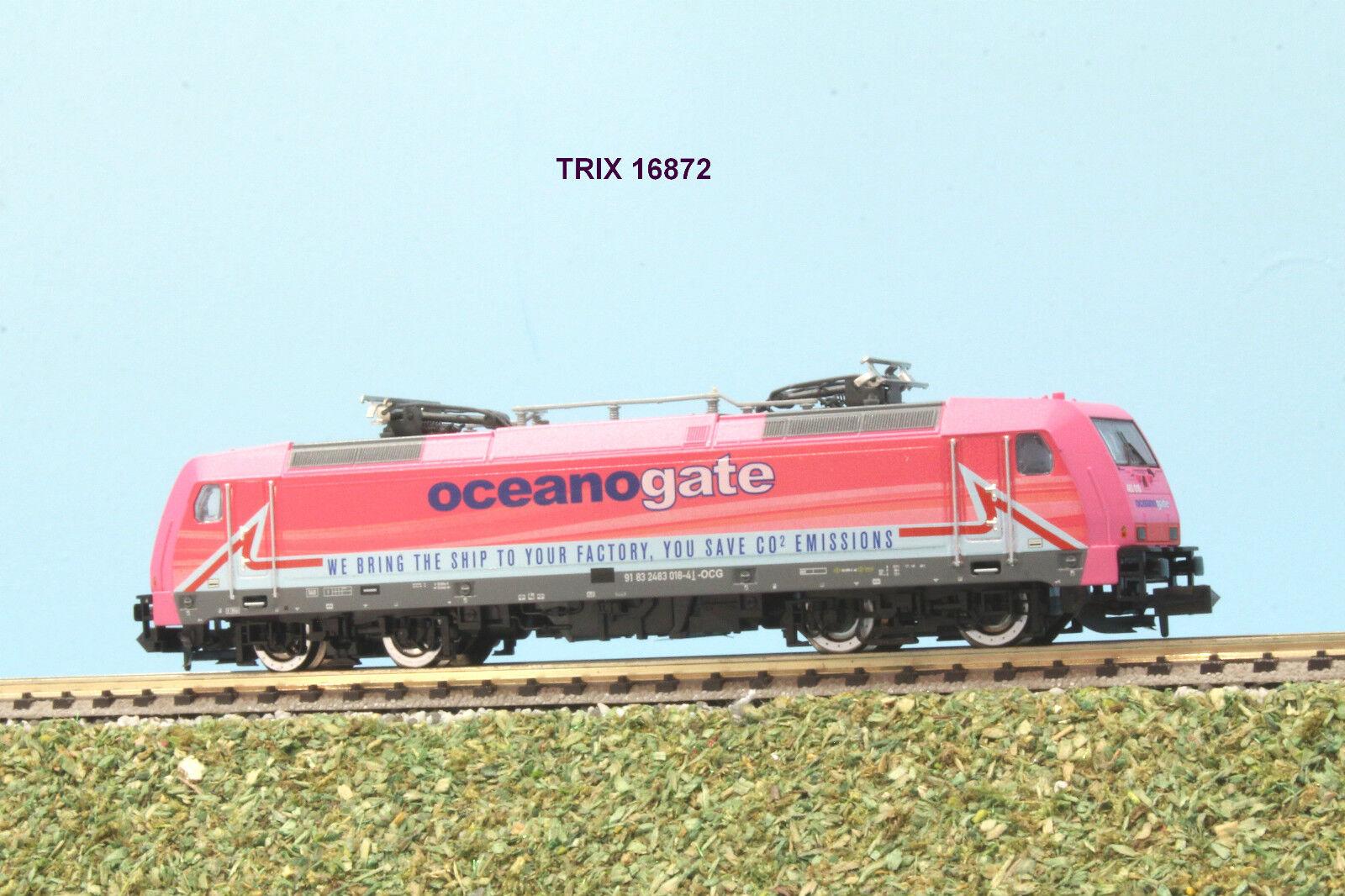 TRIX  art. 16872 SCALA N locomotiva E 483 livrea Oceanogate