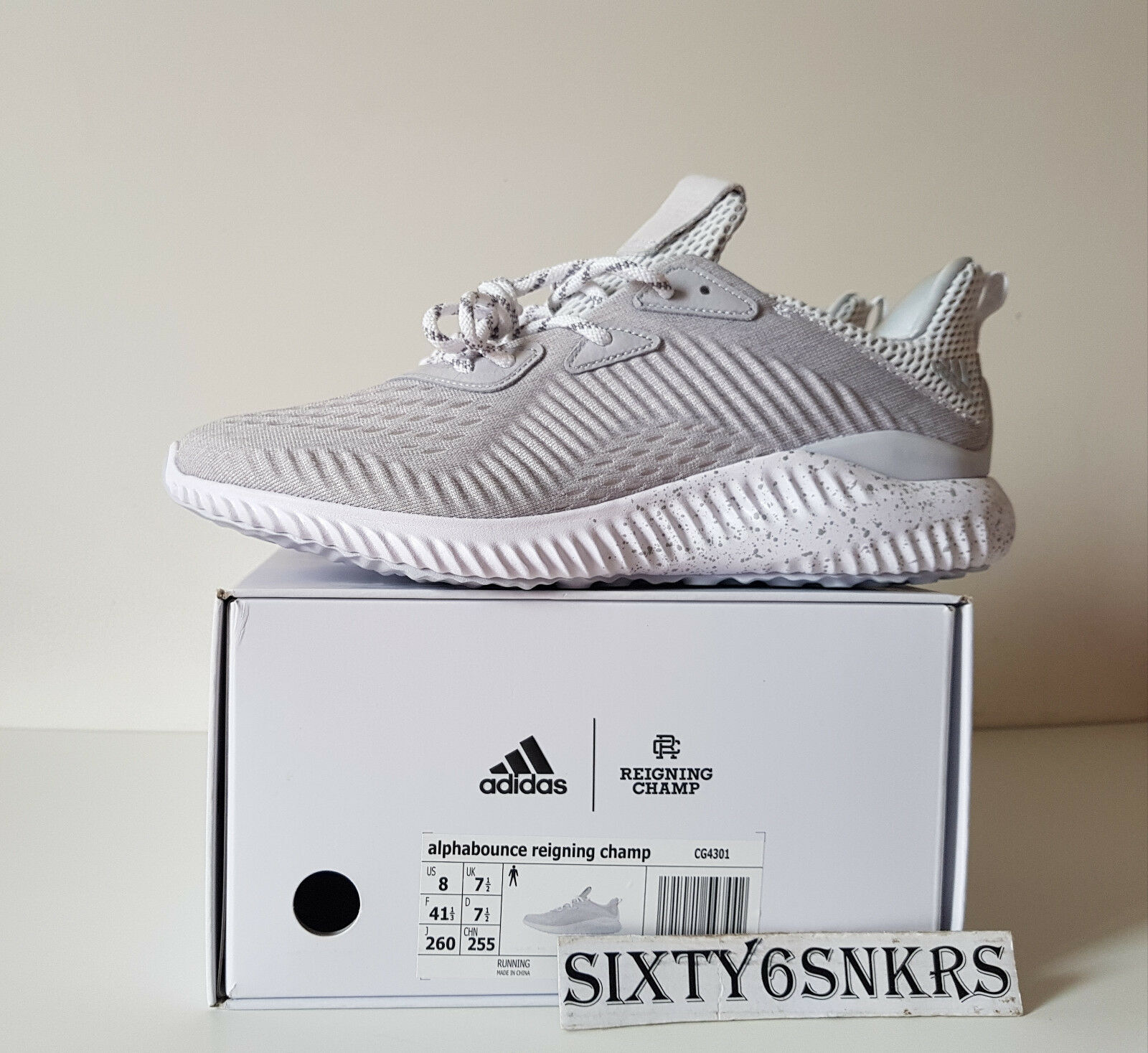 Adidas Alphabounce X Reigning Champs 1.0 8US 7,5UK 41 1/3EU New DS