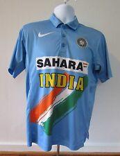 NIKE Sahara India Cricket Jersey Adult Medium Blue Yellow Dri Fit Shirt Mens