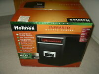 Holmes Infrared Quartz Space Heater Electric 1000w Black Remote Hrh6403ere