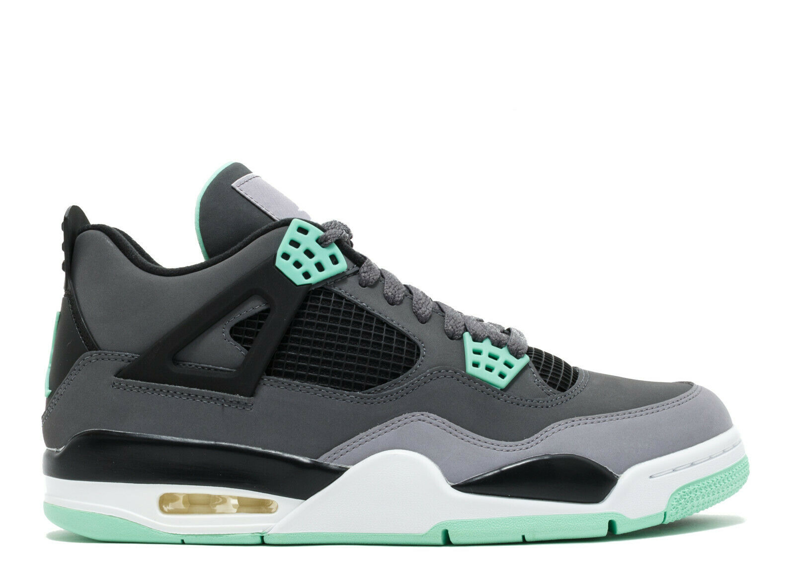 2013 Nike Air Jordan 4 IV Retro SZ 8.5 Green Glow OG Cement Grey 308497-033