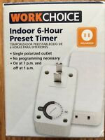 Work Choice Indoor 6-hour Preset Timer