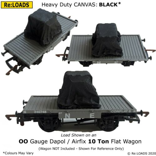 BLACK /& FADES for HO OO Scale Gauge Tarped Covered Sheeted Model Railway Loads