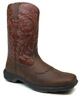 Durano Head West Square Toe Rebel Lite Western Cowboy Work Mens Boots 9.5 M