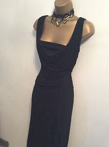Coast Black Grecian robe style Taille 16 très bon état