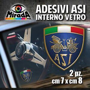 Adesivi-Stickers-INTERNO-VETRO-ASI-auto-ruote-storiche-old-rally-epoca-7X8cm