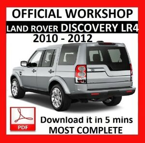 OFFICIAL WORKSHOP Manual Service Repair LAND ROVER DISCOVERY LR4 ...