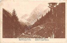 Cartolina - Postcard - panorama di montagna - poesia - anni '10