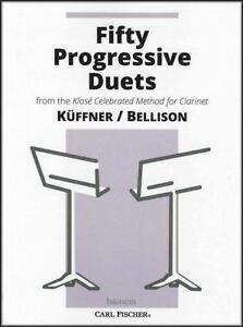 50 Progressive Duos Pour Clarinette Partitions Livre Par Kuffner/bellinson-afficher Le Titre D'origine