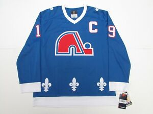 JOE SAKIC QUEBEC NORDIQUES BLUE FANATICS BREAKAWAY VINTAGE HOCKEY JERSEY
