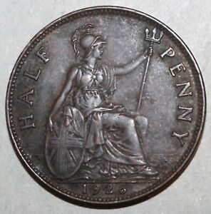 British-Half-Penny-Coin-1926-KM-824-Great-Britain-King-George-V-UK-1-2