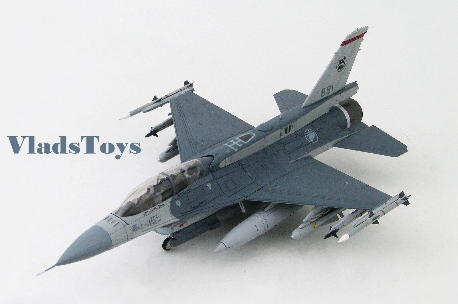 Hobby Master 1:72 F-16D Falcon Rsaf 140 Sqn  691 Tengah Ab Singapore HA3837
