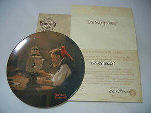 Knowles-Rockwell-Heritage-The-Ship-Builders-With-Certificate-Boxed-My-Pos-4