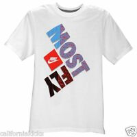 NIKE Most Fly T-Shirt sz L Large White Red Photo Blue JDI Max SB 90 Premium NEW