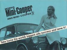 Morris Mini MkII Cooper 998 & Cooper S 1275 1967-69 UK Market Sales Brochure