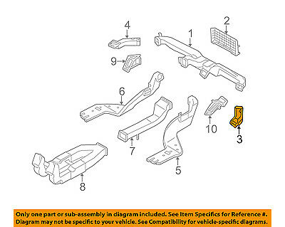Right Genuine Hyundai 97390-3S000 Defroster Hose Assembly