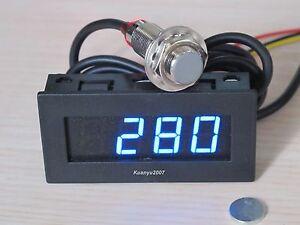 4 digital blue led tachometer rpm speed meter hall. Black Bedroom Furniture Sets. Home Design Ideas