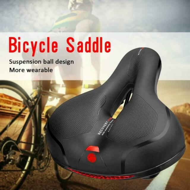 New Extra Wide Comfort Saddle Bicycle Seat Replace Pad Soft Mountain Bike Seat