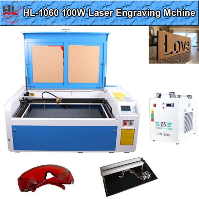 100W CO2 Laser Engraving Machine 1000*600mm DSP Laser Cutter Engraver Reci Tube