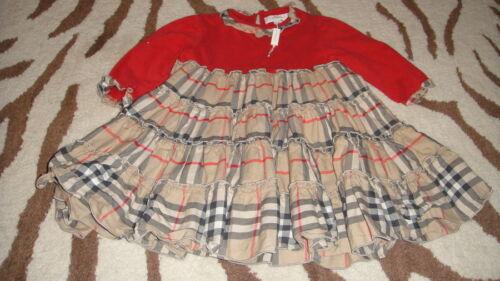 Nuevo Con Etiquetas Nuevo Burberry GIRLS 12M/80 12 meses Darling Vestido