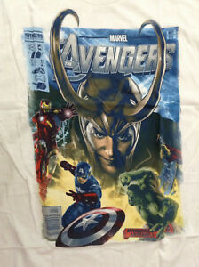 AVENGERS-OFFICIAL-1ST-MOVIE-COMIC-COVER-T-SHIRT-L-42-44-NEW-MARVEL-THOR-IRON-MAN