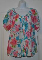 Woman's Rebecca Malone Blouse Size M Comfortable, Casual, Vacation