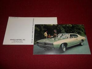 Details about 1969 PONTIAC GTO HARDTOP COUPE ORIGINAL ADVERTISING POSTCARD  / 69 Brochure